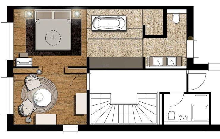 planta de um apartamento pequeno