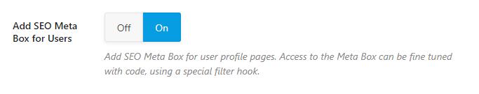 adicionar seo meta box para usuários