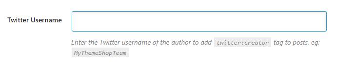 digite seu nome de usuário do twitter