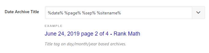 formato do título do arquivo de data