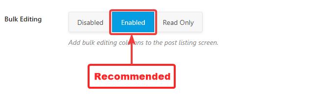 habilitar edição em massa para postagens
