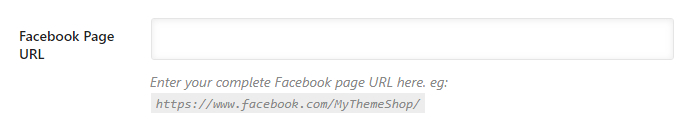 insira o url da sua página do facebook