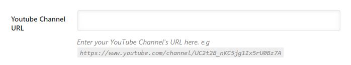 insira o url do seu canal do youtube