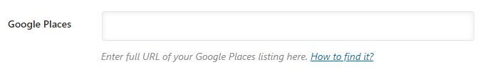 insira o url do seu Google Places