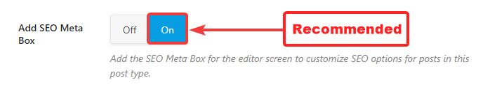 metacaixa nas páginas ativadas ou desativadas