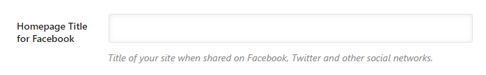 título da página inicial para o facebook